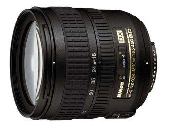 image objectif Nikon 18-70 AF-S DX 18-70 mm f3.5-4.5G ED-IF