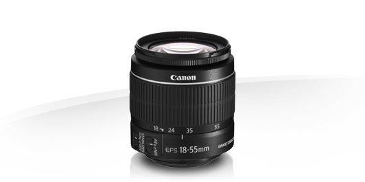 image objectif Canon 18-55 EF-S 18-55mm f/3.5-5.6 IS II