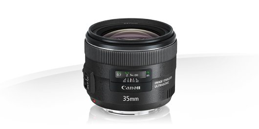 image objectif Canon 35 EF 35mm f/2 IS USM pour olympus