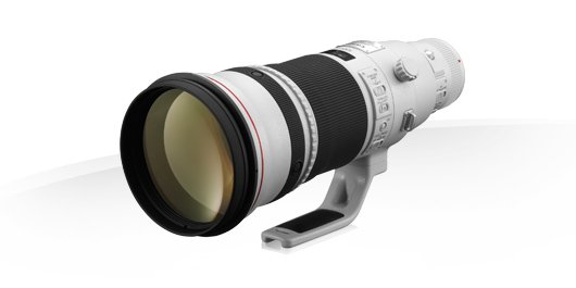 image objectif Canon 500 EF 500mm f/4L IS II USM pour olympus