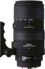 image objectif Sigma 100-300 100-300mm F4 DG APO HSM EX