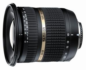 image objectif Tamron 10-24 SP AF 10-24mm F/3.5-4.5 Di II LD Aspherical (IF)