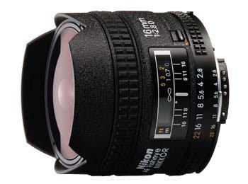 image objectif Nikon 16 AF Fisheye-Nikkor 16mm f/2.8D