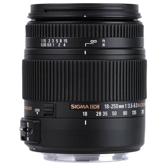 image objectif Sigma 18-250 18-250mm F3.5-6.3 DC MACRO OS* HSM