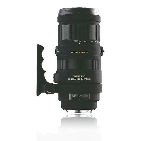 image objectif Sigma 120-400 APO 120-400mm F4.5-5.6 DG OS HSM pour Pentax