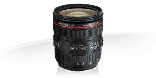 image objectif Canon 24-70 EF 24-70mm f/4L IS USM